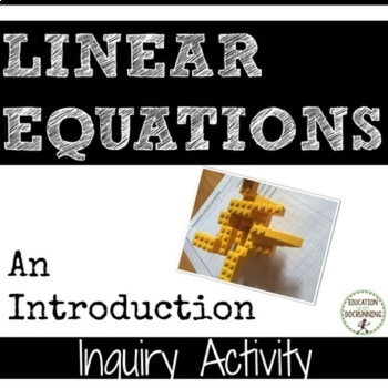 Linear Equations Inquiry Station Activity to introduce Lin