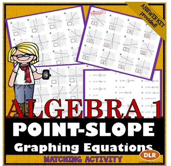Graphing Linear Equations from Point-Slope Form Matching Activity