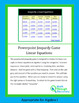 Algebra I Powerpoint Q and A Game - Linear Equations