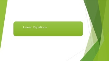 Linear Equations. Practice.