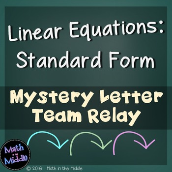 Linear Equations (Standard Form) Team Relay
