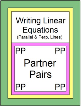 Linear Equations - Write Equations of Parallel and Perp. L