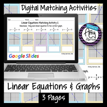 Linear Equations and Graphs Matching Activities - Google S