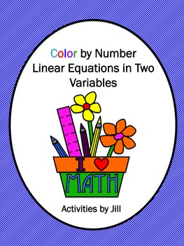 Linear Equations in Two Variables Color by Number