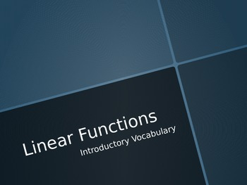 Linear Function Vocabulary Presentation