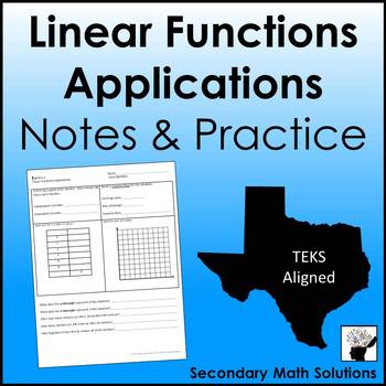 Linear Functions Applications Notes & Practice