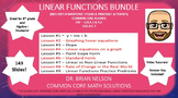Linear Functions Bundle - 9 PowerPoint Lessons (143 Slides