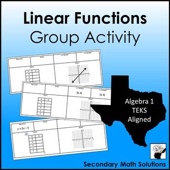 Linear Functions Group Activity
