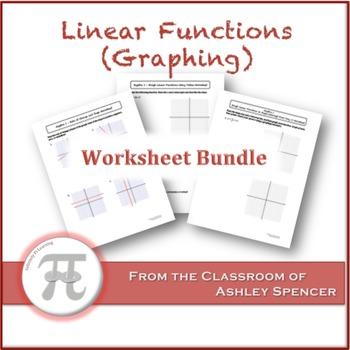 Linear Functions (Graphing) Worksheet Bundle