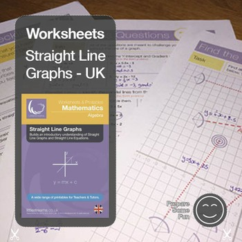 Straight Line Graphs & Equations Printables & Worksheets UK