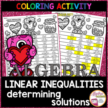 Determining Solutions to Linear Inequalities Coloring Activity