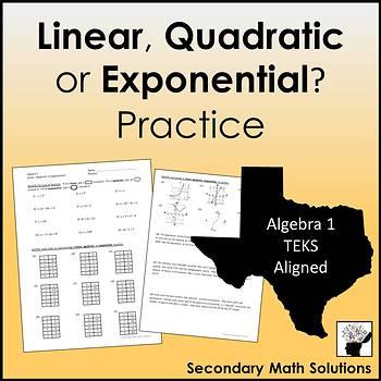 Linear, Quadratic or Exponential? Practice