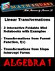 Linear Functions - Identifying Linear Transformations from