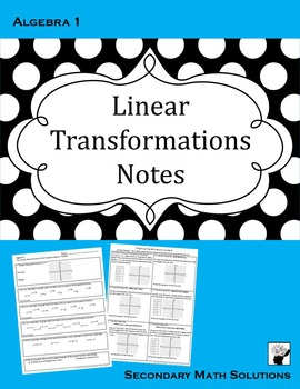 Linear Transformations Notes