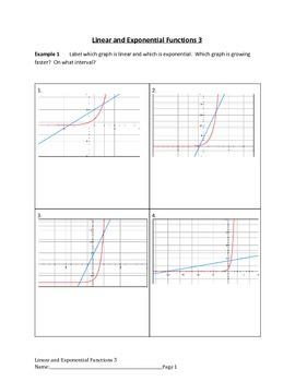 Linear and Exponential Functions Lesson 3 of 9