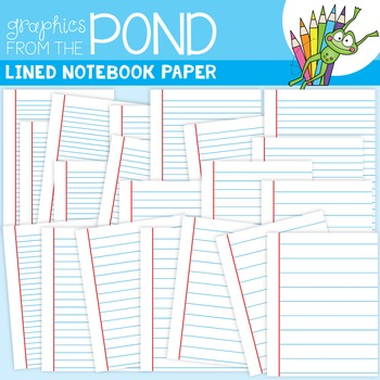Lined Notebook Paper Clipart