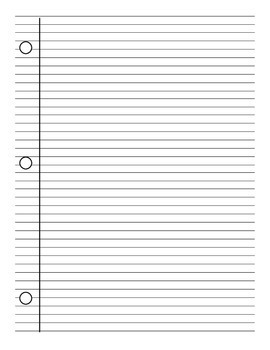 Lined Notebook Paper Template - PDF