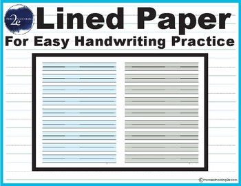 Lined Paper With Shaded Bars