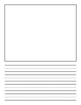 Lined Paper with Illustration Box