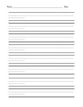 Lined paper with dotted center