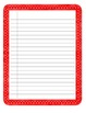 Lined writing paper with colorful borders!
