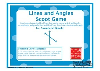 Lines & Angles Scoot Game
