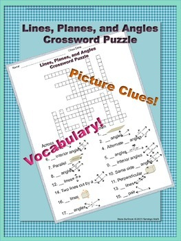 Lines, Planes, Angles Crossword
