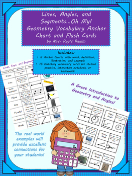 Lines, Angles, and Segments Oh My: Geometry Vocab. Anchor