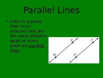 Lines, Segments & Angles PowerPoint