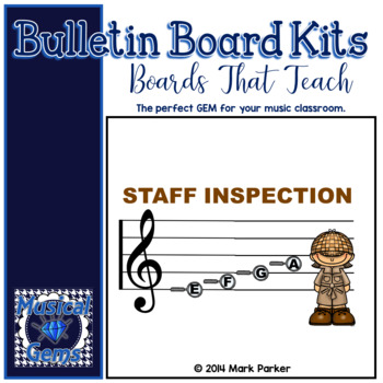 Music Staff Bulletin Board - detective theme