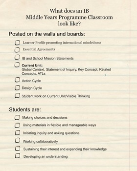 What does an MYP Classroom look like?