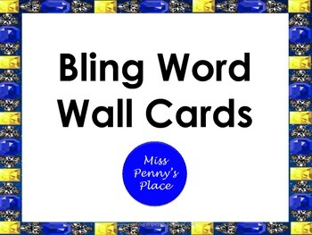 Bling Word Wall