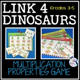 Properties of Multiplication - Link 4 Dinosaurs Game