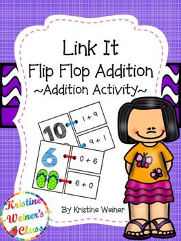 Link It - Flip Flop Addition {An Addition Activity}