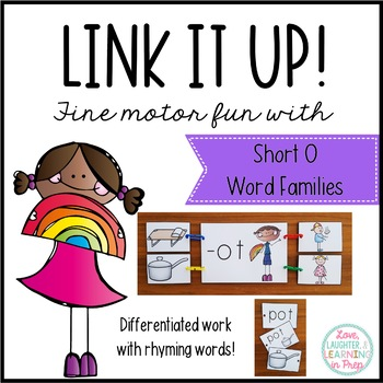 Link It Up! Fine Motor Fun with Short O Word Families