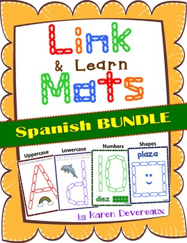 Link & Learn BUNDLE (Spanish) - Mats for Links - Playdough