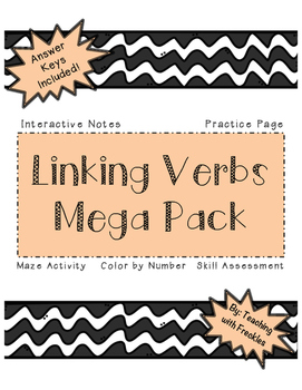 Linking Verbs Mega Pack: Interactive Notes, Practice Sheet