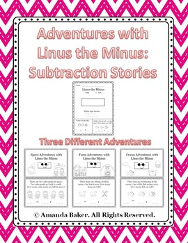 Linus the Minus Subtraction Story Problems Worksheets Mini-books