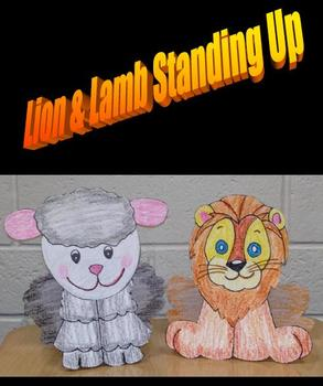 March Lion & Lamb Standing Up Art Project