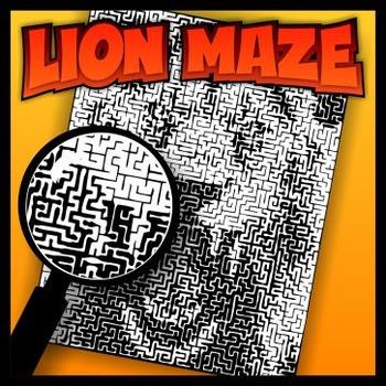 Lion Pictorial Maze
