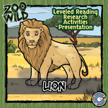 Lion -- 10 Resources -- Coloring Pages, Reading & Activities