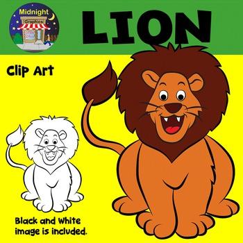 Lion Zoo Animals Clip Art