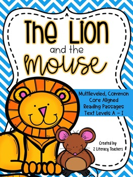 Lion and the Mouse Fable: CCSS Aligned Leveled Reading Pas