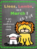 Lions, Lambs, and March Close Reads