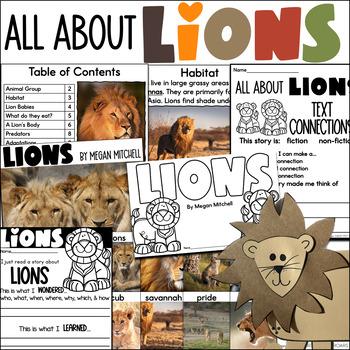 All About Lions...A Mini Unit