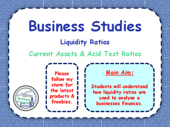Liquidity Ratios - Current Ratio & Acid Test Ratio - Balan