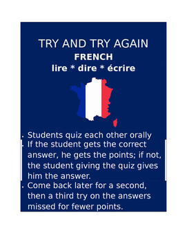 Lire dire écrire FRENCH Try and Try Again