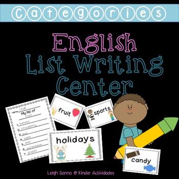 List Writing Center (Categories)