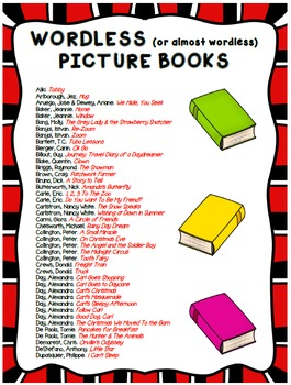 List of Wordless (or Almost Wordless) Picture Books -- Spe