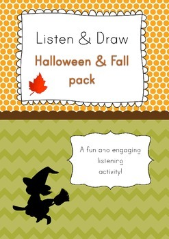 Listen & Draw: Fall and Halloween listening activity